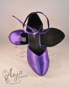 Varieyt of heel heights available. Sizes from EU to EU Other sizes available to order. Available in other colours. For current prices and to order visit the website. Purple Satin, Ballroom Dance, Pretty Shoes, Rock N Roll, Dance Shoes, Colours, Website, Lady, Heels