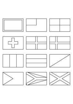 printable coloring pages of flags around the world 5 - Flags World Coloring Pages