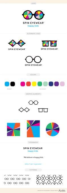 Spin Eyewear brand identity design by Aeolidia