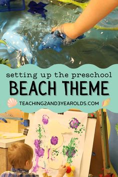 We like to have our beach theme just as we are wrapping up the school year, when the weather is warmer and some children have experienced beach outings with their families. We set up a small world beach area, went pretend fishing, and made some ocean discovery bottles while learning about different ocean animals. #beach #ocean #theme #curriculum #toddler #preschool #classroom #homeschool #teachers #earlychildhood Beach Theme Preschool, Preschool Classroom, Toddler Preschool, Ocean Activities, Summer Activities, Preschool Activities, Ocean Lesson Plans, Lesson Plans For Toddlers, Ocean Themes