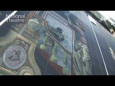 Scenic painting in theatre - YouTube