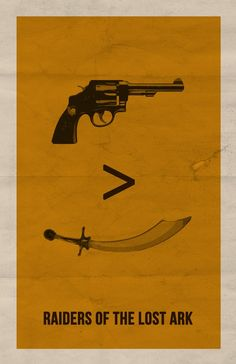 Raiders of the Lost Ark, minimalist movie poster