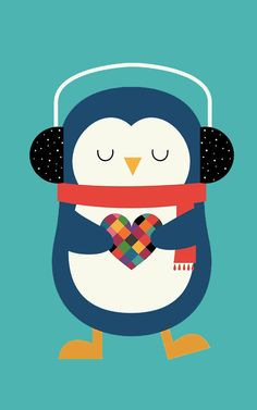 Pingüino corazón