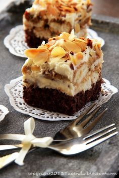 Z nutą Amaretto. Cooking Recipes, Healthy Recipes, Polish Recipes, Tiramisu, Gingerbread, Cheesecake, Good Food, Food And Drink, Sweets