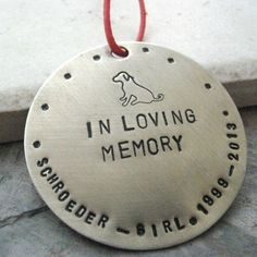 Personalized Pet Memorial Ornament nickel silver by riskybeads, $26.95