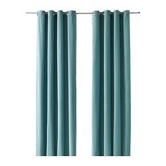 "IKEA - SANELA, Curtains, 1 pair, 55x98 "", , The thick curtains darken the room and provide privacy by preventing people outside from seeing into the room.Cotton velvet gives depth to the color and is soft to the touch.The eyelet heading allows you to hang the curtains directly on a curtain rod."
