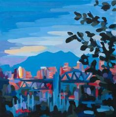 "Joanne Hastie - North Vancouver, BC ""Joanne Hastie paints colourful scenes of everyday cityscapes and landscapes she happens by in the Pacific North West and during her travels abroad."""