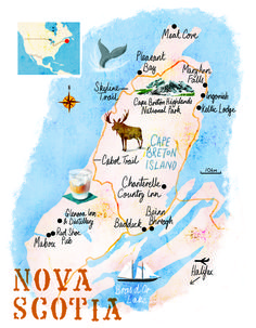Nova Scotia map by Scott Jessop, April 2016 issue