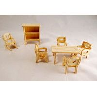SET NÁBYTKU,  wooden toys, wooden houses, toys