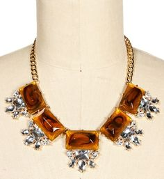 Promo-Tortoise Gemstone Statement Necklace