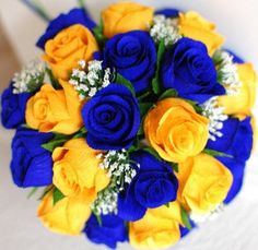Royal blue and yellow wedding flowers complete wedding flower flowers picasa web albums mightylinksfo
