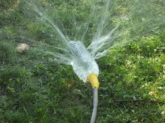 A great idea for keeping cool in the summer & watering the garden. Recycled plastic bottle Via White Rabbit Farm