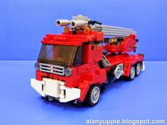 Inferno is an Autobot fire engine from Transformers cartoon series. Lego Robot, Lego Mecha, Lego Transformers, Boys Life, Lego Models, Fire Engine, Lego City, Cool Rooms, Geek Stuff