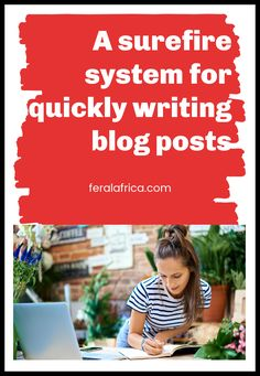 We show you a few tricks and methods to quickly create blog content for your site.  A surefire system for quickly writing blog posts. #blogposts #contentcreation #howtowrite #bloggingtips