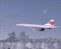 The Concorde, owned by British Airways, the fastest commercial jet on earth.  This plane flew from the USA to Europe in about 3 hours, just to show you what I meant by fast!!