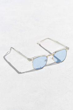 9625c58b4 Classic Half-Frame Sunglasses | Urban Outfitters Urban Outfitters Sunglasses,  Sunglass Frames, Mirrored