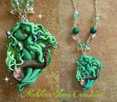 Spring Sprite polymer clay necklace!
