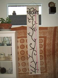 """SO CUTE! kids growth charts, """"tall as weeds""""."""