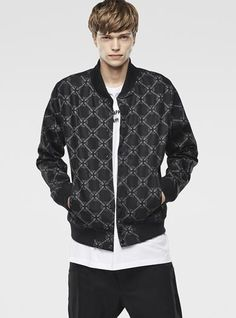 RAW FOR THE OCEANS -  PRINTED FALLDEN BOMBER JACKET