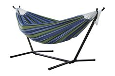 Vivere Double Hammock with Space Saving Steel Stand