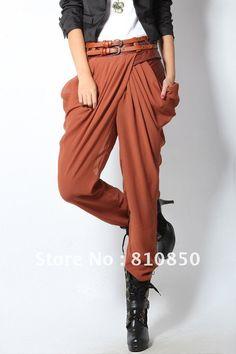 2012-fashion-in-Europe-and-America-stitching-leather-pleating-chiffon-harem-pants-casual-pants-carrot-pants.jpg (JPEG-kuva, 682×1024 kuvapistettä)