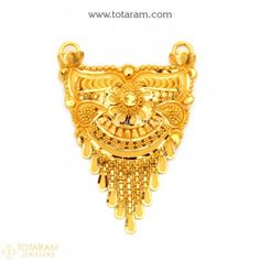 Gold Pendants - View and shop our collection of gold pendants made in India - Indian Gold Jewelry - Buy Online Earrings With Price, Indian Gold Jewellery Design, Jewelry Design, Gold Pendent, Gold Jhumka Earrings, Gold Mangalsutra Designs, Gold Jewelry Simple, Jewellery Sketches, Alphabet