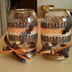 Halloween Washi tape 'lanterns'