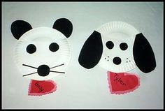 Mouse and Dog Valentine Holders | Miss Mary's Preschool Ideas