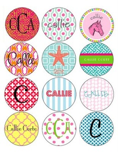 CUTE personalized labels and stickers