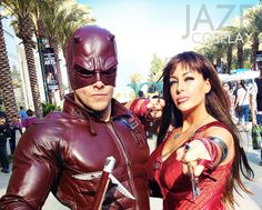 DAREDEVIL & ELEKTRA debuted!! We are back from Wondercon 2014 and had an absolute BLAST! Our page has all the newly uploaded awesome pics: www.facebook.com/JazeCosplay