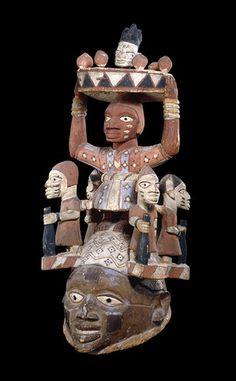 Nigeria - Yoruba Mask for Gelede Masquerade (British Museum). Probably late 19th century.