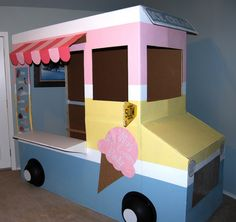 Homemade ice-cream truck, how fun.