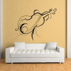 Decorative Violin Wall Sticker Music Wall Art Part 89