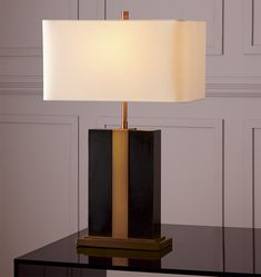 Monolithic Table Lamp Bronze & Aged Brass A7143
