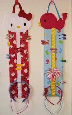 Mantén organizados sus accesorios con algo hecho de su personaje favorito. #Sew #DIY #Projects #Kitty #Kids