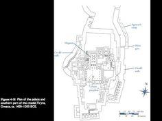 Tiryns, Peloponnese, Greece map -