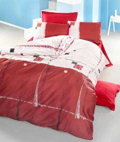 REDUCERE -15% pentru Lenjerie de pat din bumbac Valentini Bianco VKR10 Nil Rosu. Preț redus: 169,15 lei (livrare gratuită).
