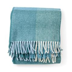 Inez Throw in aqua