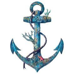 Lost at Sea Art Print by Terry Fan Anchor Wallpaper, Ocean Tattoos, Tatoos, Terry Fan, Theme Tattoo, Tatuagem Old School, Anchor Tattoos, Sea Colour, Sea Art