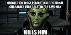 Thane Dies - FemShep gets drunk, passes out, wakes up on Aria's couch, goes on to save the galaxy.
