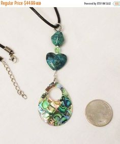Pre-Summer Sale Abalone Jewelry Heart Jewelry by DesignDimensions