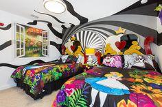 alice in wonderland wall mural in wonderland bedroom decor in wonderland themed . alice in wonderl Baby Room Themes, Bedroom Themes, Baby Room Decor, Bedroom Decor, Bedroom Ideas, Bedroom Furniture, Alice In Wonderland Bedding, Wonderland Alice, Bedding Inspiration