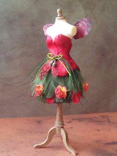 Dress 1 1/2 dollhouse miniature by Yasminesshop on Etsy