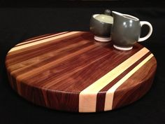 Round Black Walnut Cutting Board