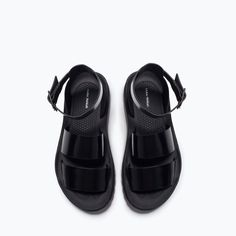ANKLE - STRAP TRACK - SOLED FLAT SANDALS - Shoes - TRF - COLLECTION SS15 | ZARA Canada