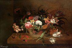 Jacob Marrel (1614 – 1681) Тюльпаны, розы, маки и др цветы (Tulips, roses, poppies and other flowers) 1648, 54.2 x 71.5 д.,м. Частное собрание