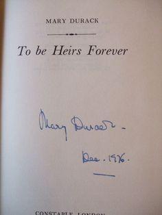Mary Durack's Signature