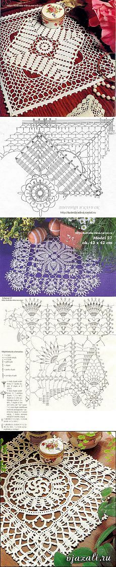 Filet Crochet, Crochet Lace Edging, Crochet Doily Patterns, Crochet Blocks, Crochet Diagram, Crochet Art, Crochet Squares, Crochet Home, Thread Crochet