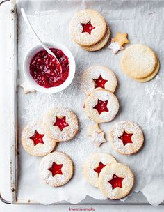 ... christmas coconut cookies with raspberry jam ...