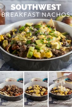 All-natural Jones breakfast sausage is the perfect addition to these loaded breakfast nachos, complete with eggs, salsa, avocado and black beans. Brunch Recipes, Breakfast Recipes, Snack Recipes, Cooking Recipes, Healthy Recipes, Skillet Recipes, Healthy Meals, Snacks, Breakfast Nachos